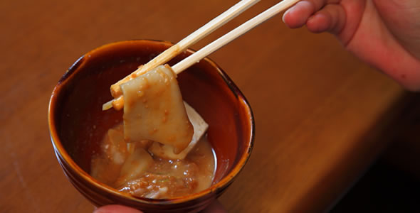にんにく味噌の調理例